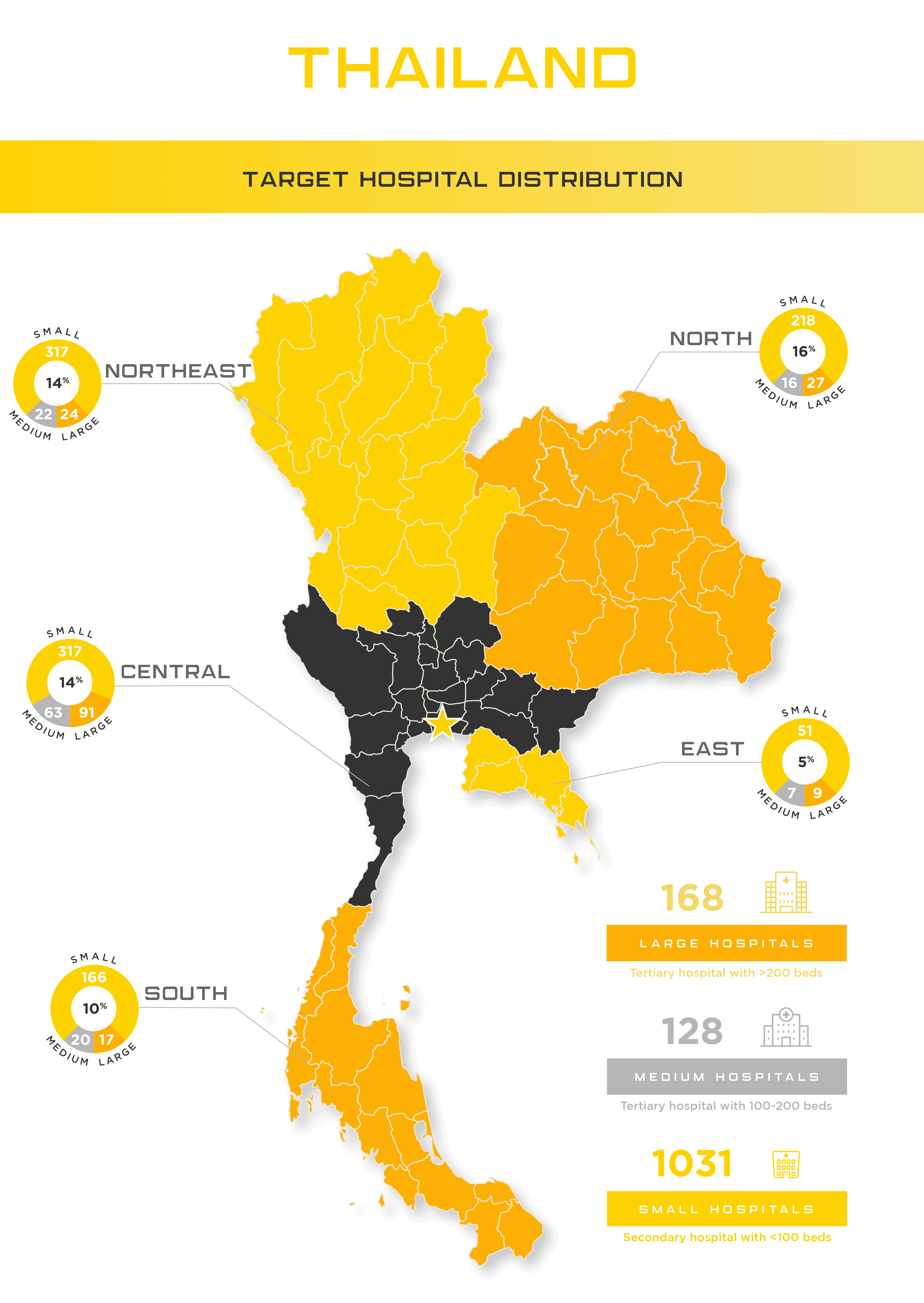 Thai Hospitals by Size and Region